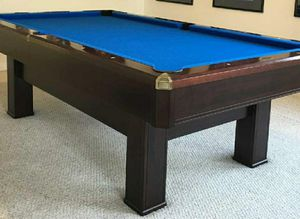 Dark wood Brunswick pool table 8ft, excellent condition! for Sale in Corona, CA