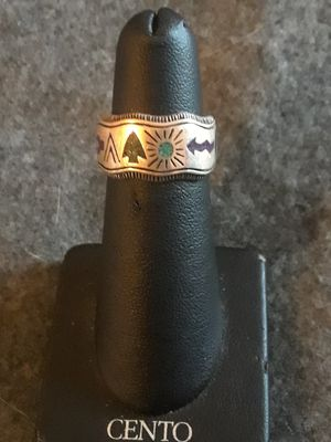 Sterling Navajo turquoise inlay ring for Sale in Grand Ledge, MI
