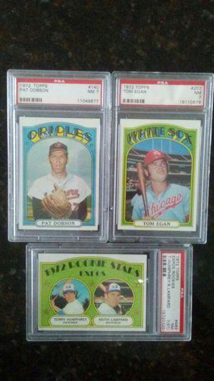 PSA 1972 Topps Graded and two regular 1967 Topps Baseball Cards for Sale in BVL, FL