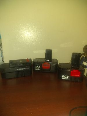 3- Power Tool Power Battery Paks (Bundle $35) for Sale in Oklahoma City, OK