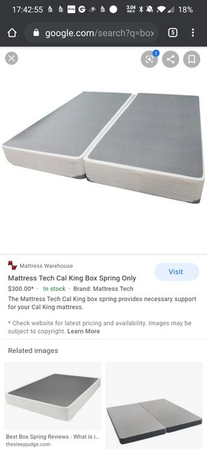 Box spring for Cal King bed or two separate twin beds for Sale in Gardena, CA