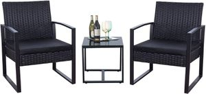 3 Pieces Patio Wicker Set Home Outdoor Furniture Decor for Sale in Los Angeles, CA