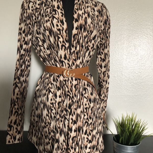 Women Clothing / Leopard Print Cardigan / Blazer