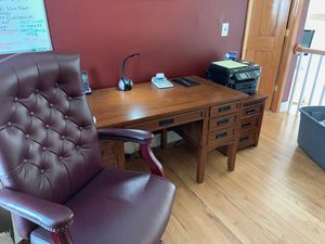 Pure wood desk, file cabinet and chair for Sale in Toms River, NJ