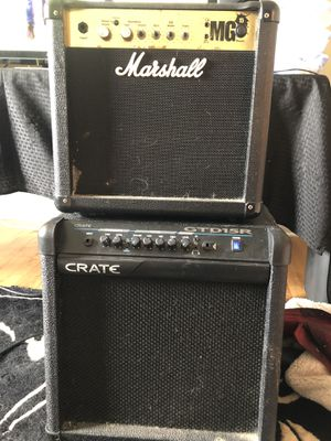 For free Marshall MG15 and Crate GTD15R for Sale in Martinsburg, WV