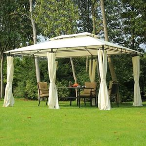 SHIPPING ONLY 13' x 10' Outdoor Patio Gazebo Canopy 2-Tier Vented Steel Sun Shade Tent w/Side Walls for Sale in Las Vegas, NV