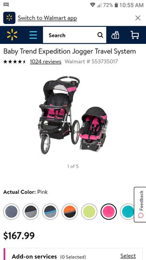 Stroller/car seat with base with build speakers in the stroller for Sale in Beverly Hills, TX
