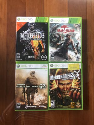 4 XBOX 360 games for $20 for Sale in Mineola, NY