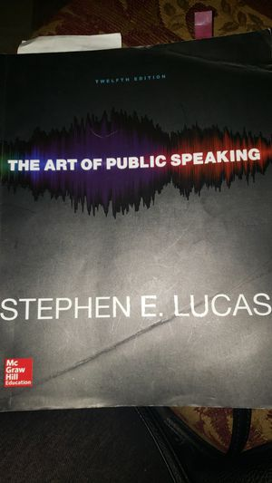 The art of Public Speaking twelfth edition for Sale in Riverside, CA