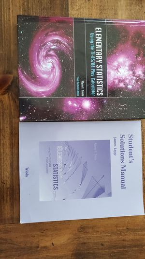 Elementary Statistics Mario F. Triola Third Edition for Sale in San Diego, CA