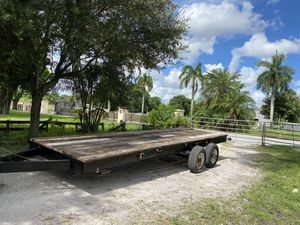 6 x 20 Custom flat deck trailer heavy duty 6 lug axels for Sale in Hollywood, FL