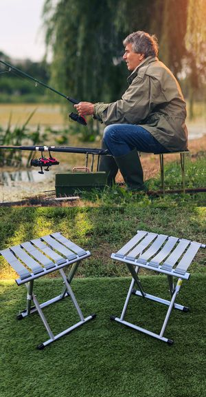 New Set of 2 Compact Folding Stool Fishing Camping Picnic Working for Sale in Moreno Valley, CA