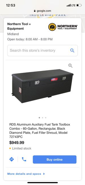 Rds fuel tank tool box for Sale in Midland, TX