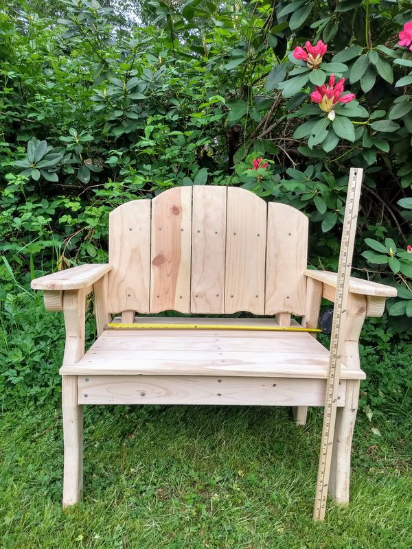 Pine Chairs - wooden chairs - outdoor furniture - unfinished - Set of Two