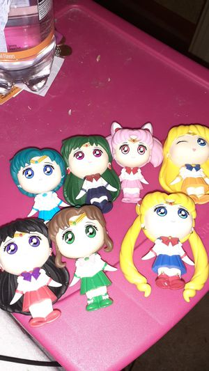 Sailor moon and the sailor scouts including rini and sailor pluto for Sale in Sterling Heights, MI
