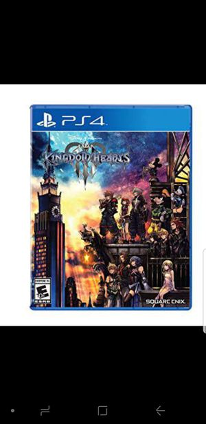 Kingdom Hearts 3 PS4 for Sale in Wadsworth, OH