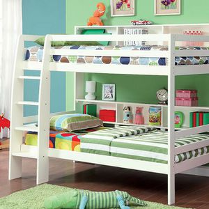 Twin over Twin with bookshelves bunk bed for Sale in West Sacramento, CA