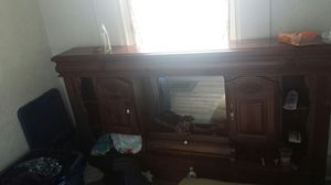 King size wooden bed frame with head board for Sale in Ravenna, OH