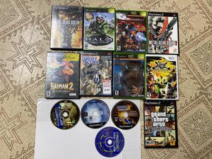 Xbox, Xbox 360, Playstation 2, Dreamcast and Wii Games! Halo, Metal Gear, Rayman, etc. for Sale in Canton, MI