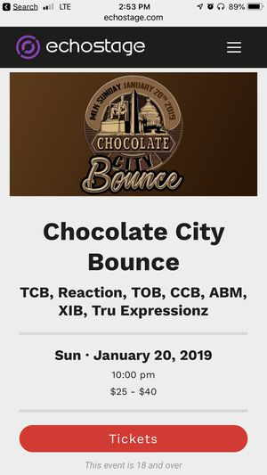 Chocolate City Bounce *ONLY 2 Tickets Left* for Sale in Fort Washington, MD