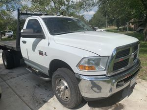2012 Dodge Ram 3500 Dually Flatbed for Sale in Pearland, TX
