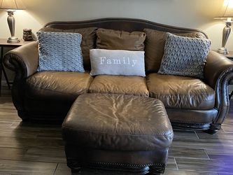 Brown Leather Couches From Haverty's for Sale in Valrico,  FL