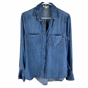Cloth & Stone denim split back button down shirt small for Sale in Lacey, WA