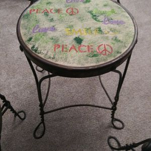 4 antique iron Ice Cream parlor chairs, heart for Sale in Chesapeake, VA