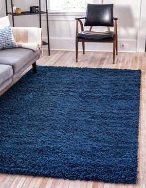 New blue shaggy rug size 5x8 nice carpet rugs for Sale in Burke, VA