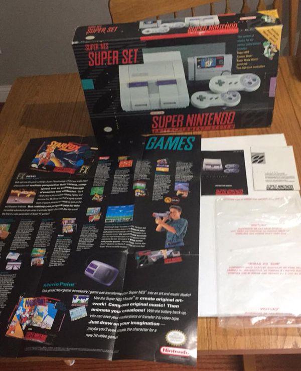 Super Nintendo In Box