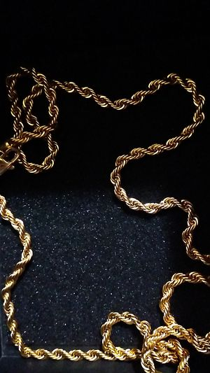 18 carrot gold plated rope chain for Sale in Salt Lake City, UT