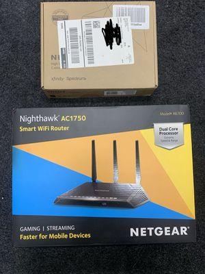 Netgear nighthawk Ac1750 wireless router & Netgear modem 5G for Sale in Easton, PA