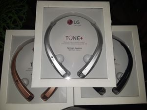 Brand new Bluetooth Retractable Wireless Earphones Headset headphones LG hbs910 for Sale in West Miami, FL