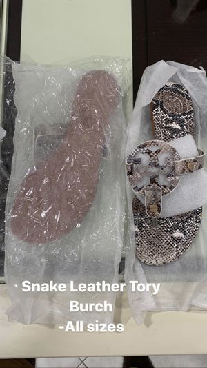 Snake Leather Tory Sandals for Sale in Miami, FL