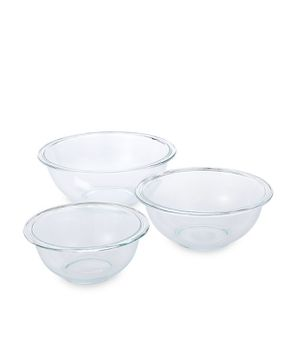 Pyrex 3-Piece Sturdy Glass Mixing Bowl Set - Clear for Sale in Lisle, IL