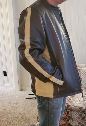 Mens Sergiobenini Leather Jacket for Sale in Abilene, TX