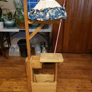 Solid Wood Lamp Table Magazine Rack for Sale in Manassas, VA
