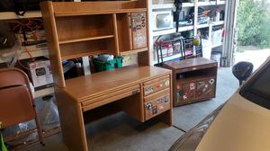 Large wood desk with wood TV stand/ night stand for Sale in Las Vegas, NV
