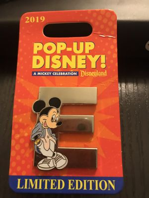 "2019 Mickey ""E"" Pin from Pop-Up Disney for Sale in Alameda, CA"