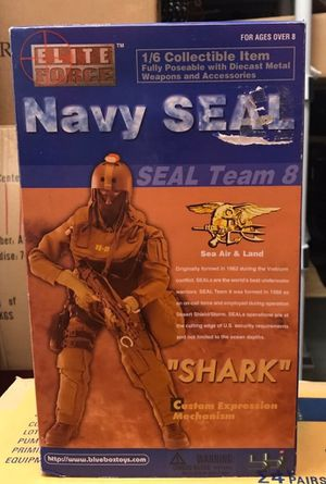 "Elite Force Navy Seal Team 8 ""Shark"" from Blue Box Toys #34221. The 1/6 Scale 12"" Fully Articulated Action Figure is still new in the box with all th for Sale in Pembroke Pines, FL"