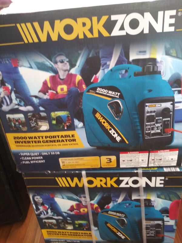 2000W portable inverter generator workzone