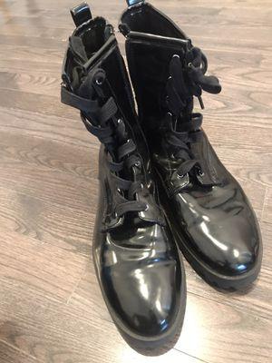 Shiny Black Combat Boots for Sale in Philadelphia, PA