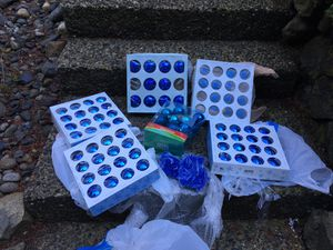 Blue glass ornaments and beads for Sale in Silverdale, WA