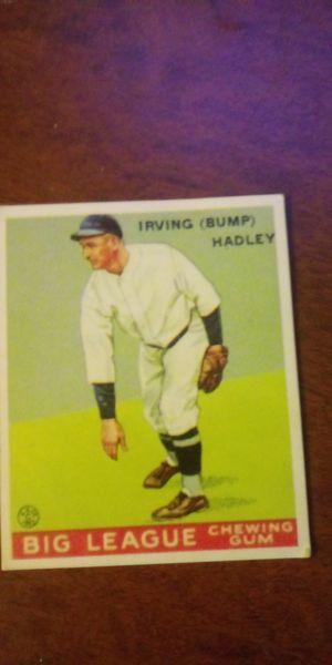 Irving (bump) hadley baseball card for Sale in Lake Elsinore, CA