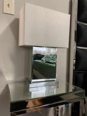 Perfect condition modern sleek mirror night stand desk lamp light for Sale in Rosemead, CA