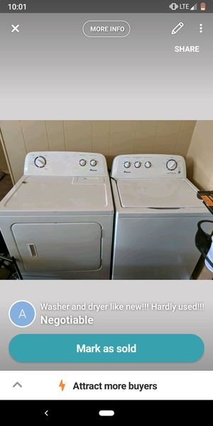 Washer and dryer practically new only used for like a year in storage since!!! for Sale in Oshkosh, WI