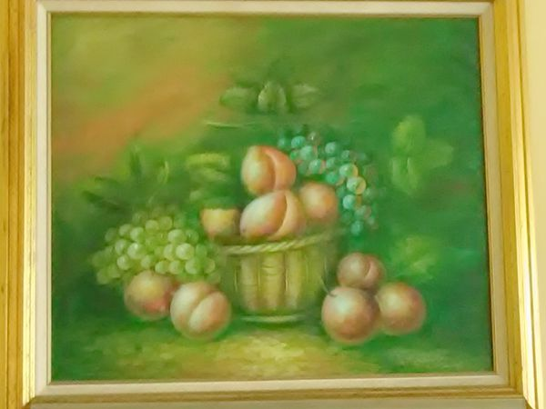 """Peaches 36"""" Oil Painting on Canvas"""