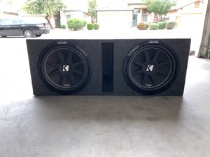 """Kicker """"Comp. & 12 in."""" Subwoofer and Planet Audio 1500 watts amp With Box for Sale in Phoenix, AZ"""