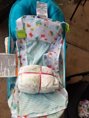 Baby Diapers and Baby bath jumper with net for Sale in Chandler, AZ