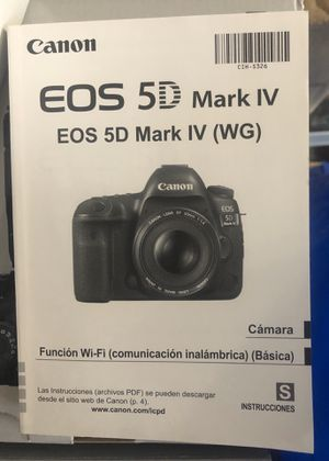 Non-English users manual for 5D mark IV for Sale in Spokane, WA